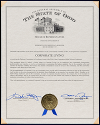 Ohio-House-of-Representatives-Recognizes-Corporate-Living