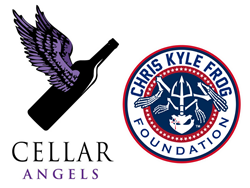 cellar angels and chris kyle frog foundation logos