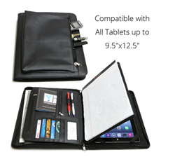 Business Leather Portfolio for iPad, Tablets