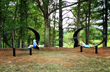 """According to artist Hank Willis Thomas, his Ernest and Ruth sculptures at the NCMA Park invite visitors to """"occupy"""" the pieces and """"contemplate what it means to inhabit their own speech and beliefs"""" ("""