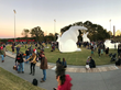 A temporary installation of Amanda Parer's Intrude, featuring five giant inflated and illuminated bunnies, attracted over 25,000 visitors to the new Civitas-designed NCMA Park for 12 days of events (p