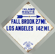 Southern California Auto Club Diamond Road Sign, Estimated at $1,000-1,500.