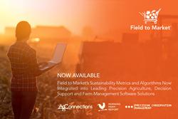 Ag Connections, LLC's Land.db, Agrible's Morning Farm Report and Heartland Science and Technology Group's Precision Conservation Management Portal have successfully integrated Field to Market's sustainability metrics.