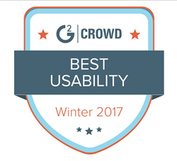 Best Usability - G2 Crowd - Winter 2017