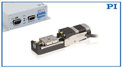 NEW Mini Linear Stage, L-402, shown with PI's Mercury Servo Controller