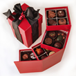 Assorted chocolate truffles are the perfect gift.