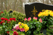 Lovestone is a plastic box that can be placed on the gravestone that can be used to grow flowers.