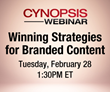 Cynopsis Webinar on February 28 – Winning Strategies for Branded Content