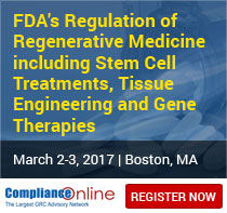 FDA's Regulation of Regenerative Medicine including Stem Cell Treatments, Tissue Engineering and Gene Therapies