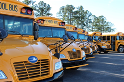 In an effort to be more economically and environmentally responsible, the state of South Carolina has purchased new Blue Bird Vision Propane school buses to replace aging diesel buses.