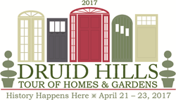Druid Hills Tour of Homes and Gardens: April 21-23, 2017