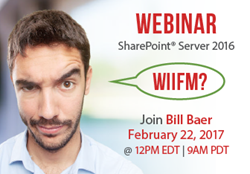 VisualSP Hosts Microsoft Product Manager Bill Baer for Webinar on SharePoint Server 2016