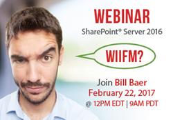 VisualSP Hosts Microsoft Product Manager Bill Baer for Webinar on SharePoint Server 2016