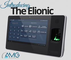 The Elionic Biometric Employee timeclock Kiosk for time and attendance