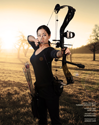 """Julia Ling trains in archery to prepare for her role as """"Tactical Girl"""" on the new comedy web series."""