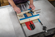 The Rockler Table Saw Small Parts Sled provides zero-clearance support for small