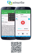 Winscribe Introduces an Updated User Interface & New Dictation Features for Android Mobile Devices