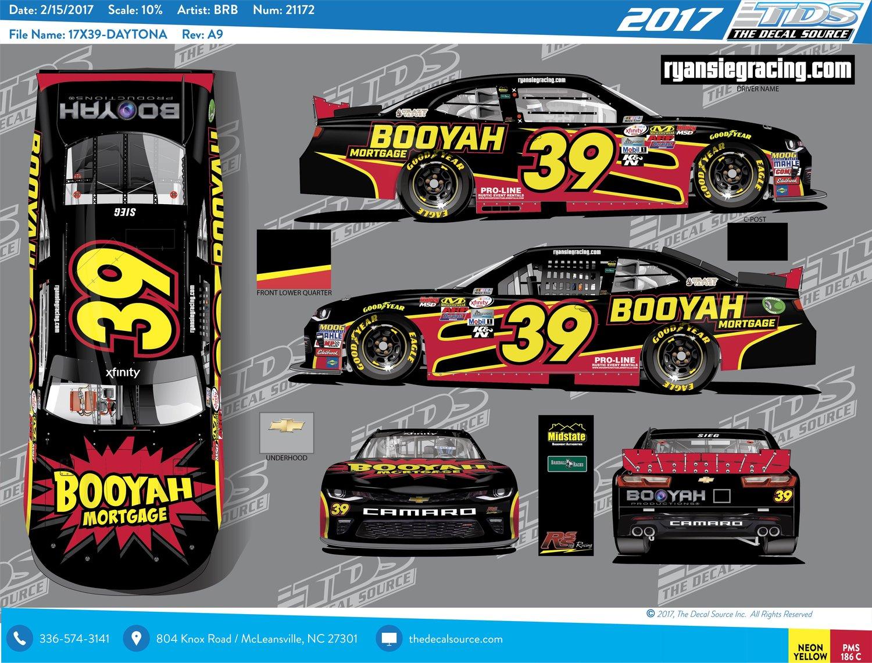 booyah mortgage to sponsor ryan sieg car  39 at the nascar