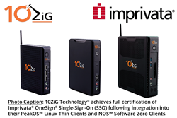 10ZiG Technology® achieves full certification of Imprivata® OneSign® Single-Sign-On (SSO) following integration into their PeakOS™ Linux Thin Clients and NOS™ Software Zero Clients.