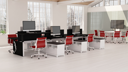 REX Adjustable Height Benching by Innovant from the NOW Collection