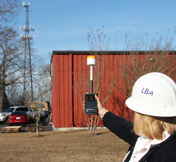 DIGMPE-8000 RF Survey System Checking Cell Tower EMF Radiation