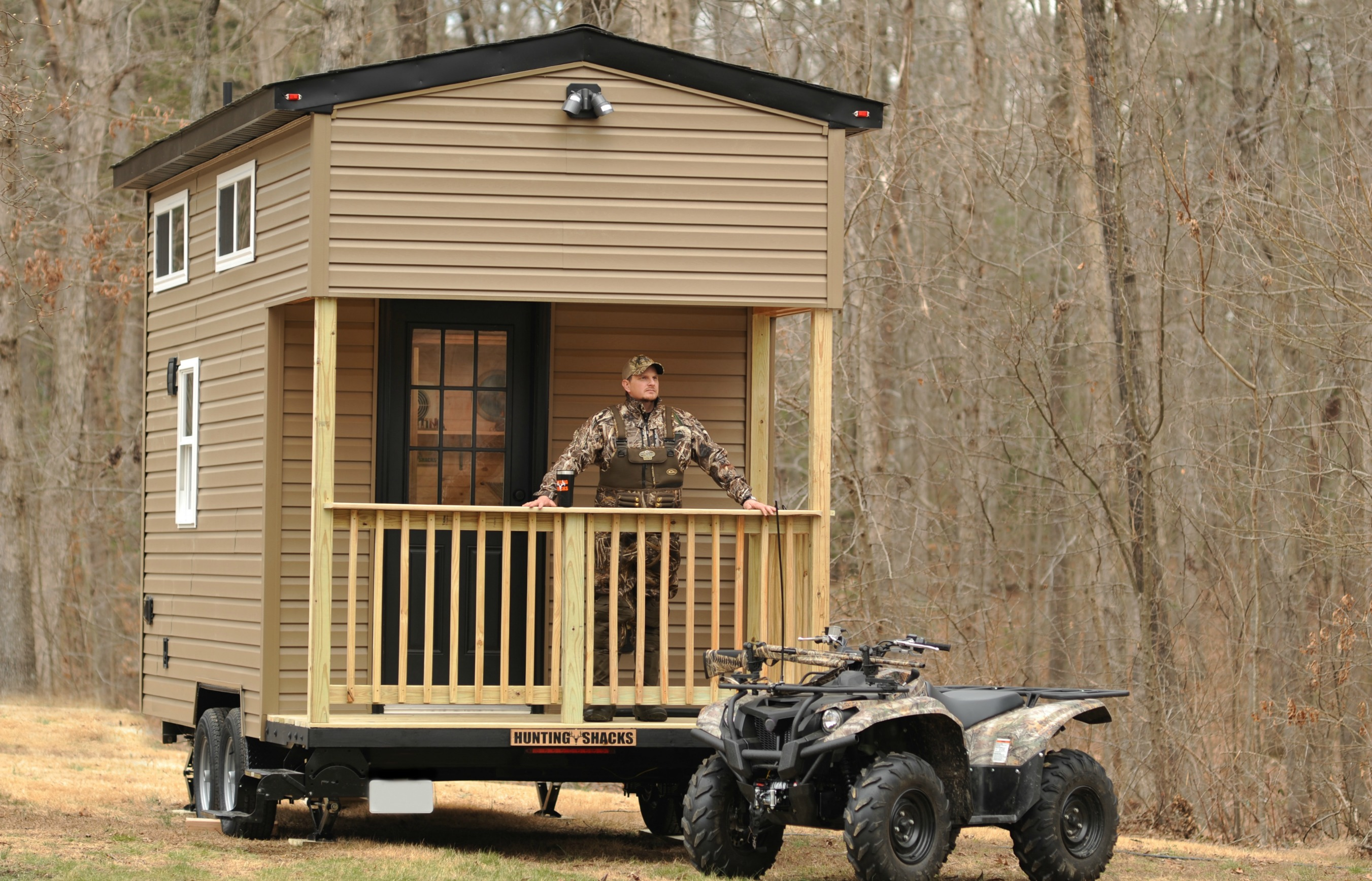 Tiny house building company llc launches new company for Hunting shack floor plans