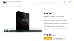 Final Cut Pro X Plugin Creator Pixel Film Studios Releases ProQuiz
