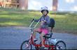 Cayenne on her new bike