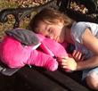 Travel pillow - sleep, snuggle, breathe.  Kids travel pillow backpack