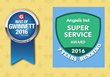 Arbor-Nomics Turf Adds 2016 Best of Gwinnett and Angie's List Super Service Award