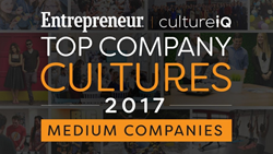 Entrepreneur Top Company Cultures in America