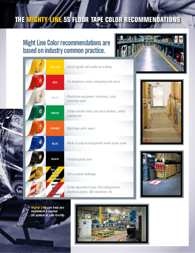 Good Mighty Line Floor Tape Releases New 5s Floor Marking Guide