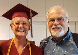 Photo of Sharla and Ken Riead at Sharla Graduation