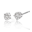 Brilliant-Cut Round Diamond Solitaire Stud Earrings