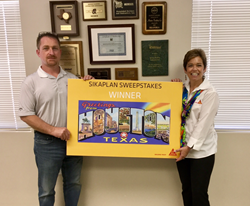 Marton Roofing's Jeremy Jackson and Sika Roofing Technical Sales Representative Lynn Jardinico