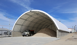 salt storage tension fabric building
