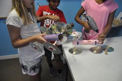 Children's activities at ALOHA Mind Math's STEM summer Camp