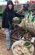 Chef Jodi with fresh produce at the Farmer's Market