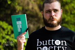 Neil Hilborn with a copy of his bestselling book, Our Numbered Days