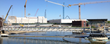 One of the biggest in the USA: A view of the construction site of Baltimore's Patapsco Wastewater Treatment Plant on the shores of the Patapsco River shows the immense size of the upgrade project.