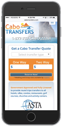 Cabo Transfers Mobile First Website