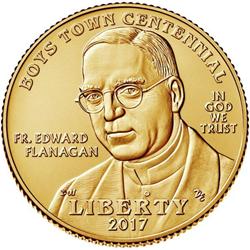 2017 Boys Town Centennial Five Dollar Gold Coin