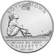 2017 Boys Town Centennial Silver Dollar
