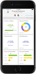 StatX Mobile Shared Dashboard for iPhone and Android