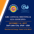 Workshops Announced for Geothermal Resources Council Annual Meeting