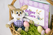 The Helper Hare™ An Easter Tradition in Easter Basket Close up