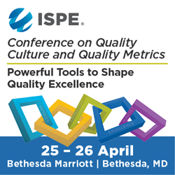 2017 ISPE Conference on Quality Culture and Quality Metrics