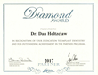Nobel Biocare(TM) Dental Implant Company Presents Diamond Award to Dr. Dan Holtzclaw of Austin, Texas