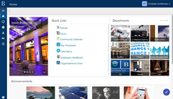 The Brookings Institution turnkey intranet, out-of the box intranet, ready to go intranet, OneWindow Workplace intranet for Office 365