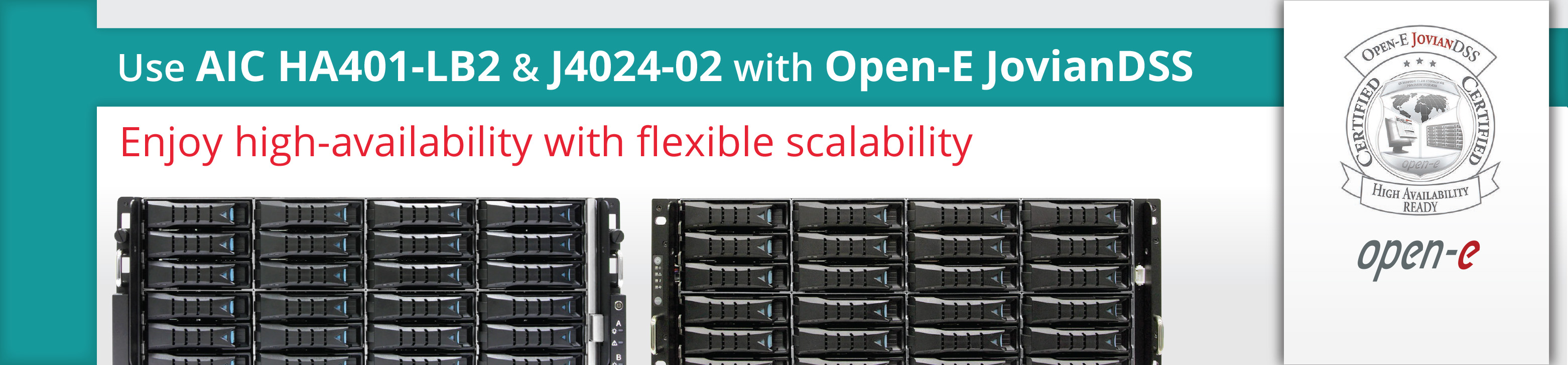 Aic Announces Certification By Open E Of Its High Availability
